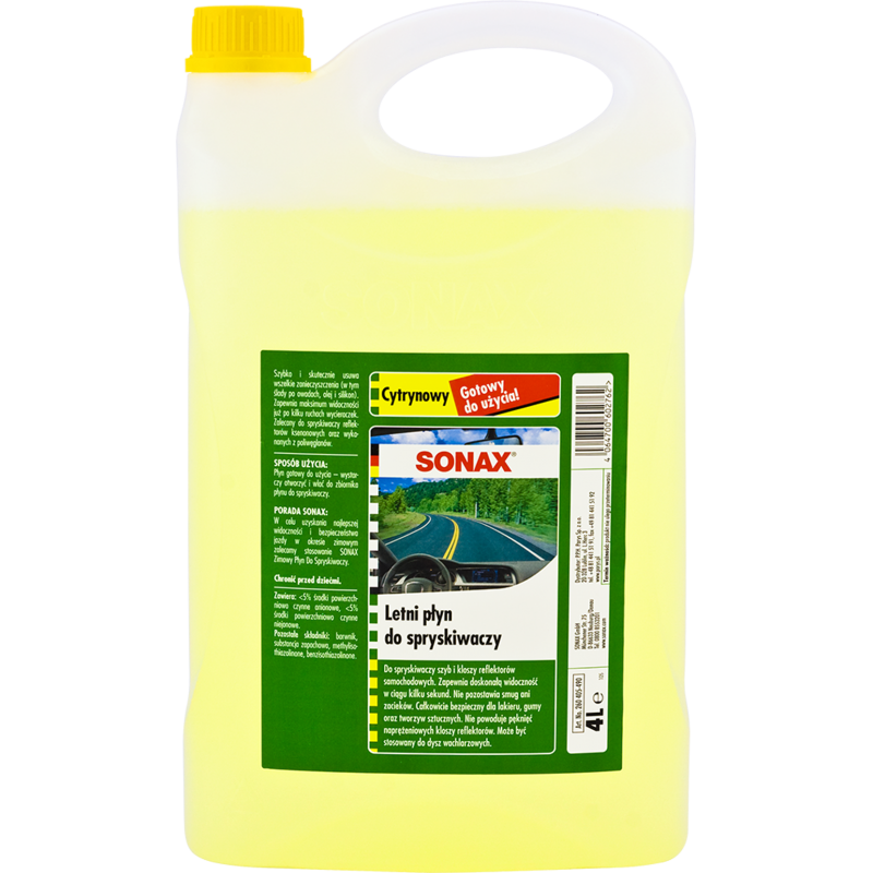 SONAX Letni płyn do spryskiwaczy 4l o zapachu cytrynowym