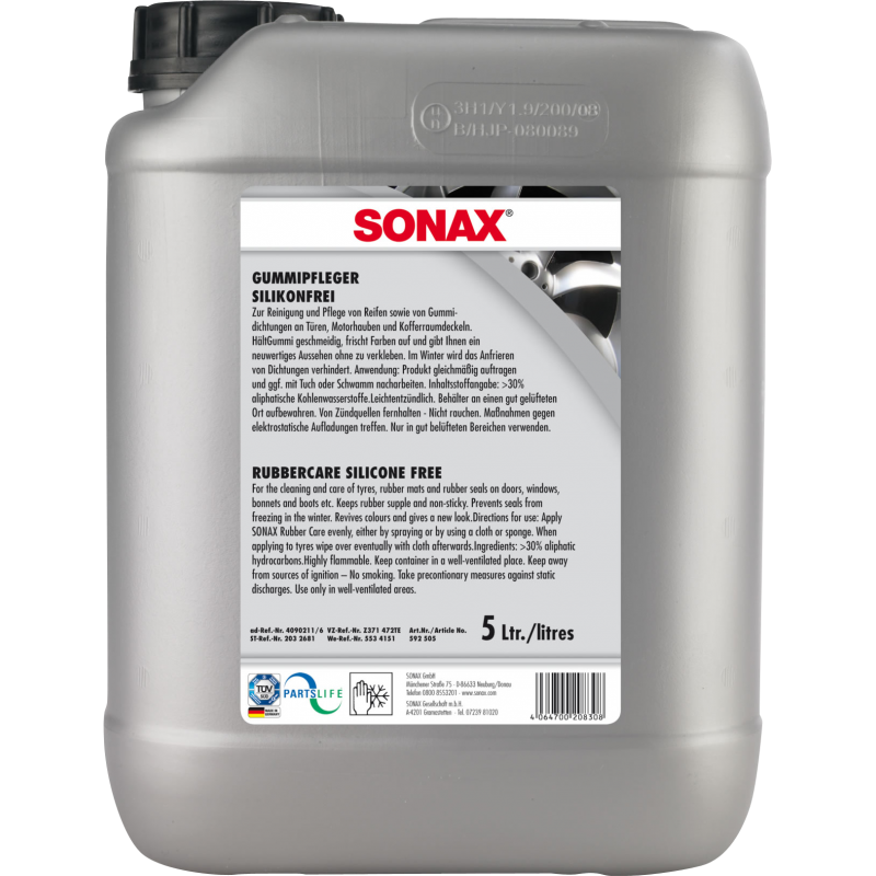 SONAX Preparat do konserwacji opon 5l czyści i zabezpiecza opony i elementy gumowe