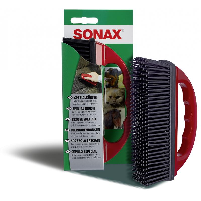 Szczotka Sonax do usuwania sierści z tapicerki samochodu